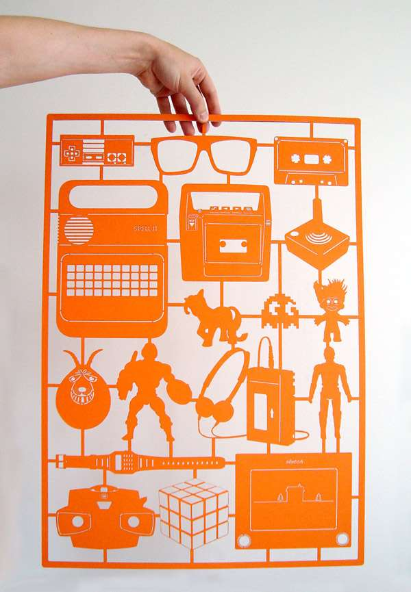 Retro Paper Cut-Outs