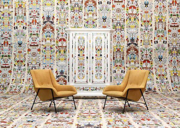 Psychedelically Retro Wallpaper