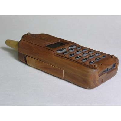 Retro Wooden Mobile Phone
