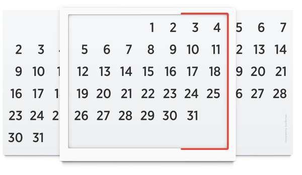 Minimalist Infinite Calendars
