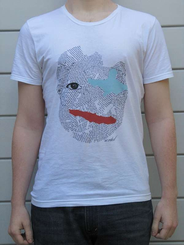 Newspaper-Clad Visage Tees