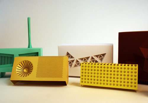 Laser-Cut Paper Stereos