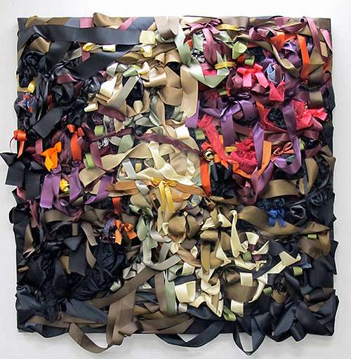 ribbon and textile artworks by vadis turner