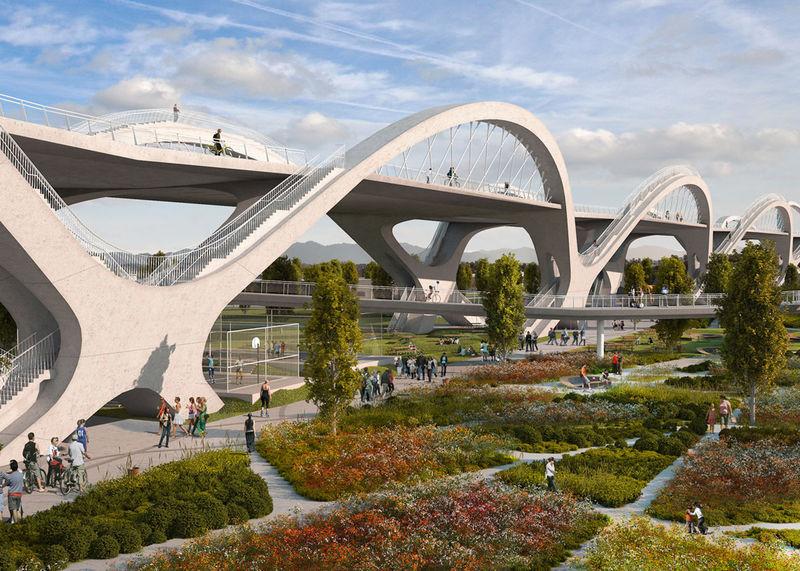 Luminous Ribbon-Inspired Bridges