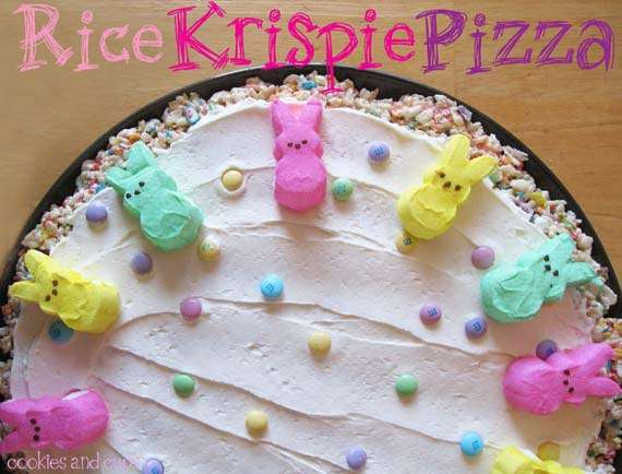 rice krispie treat pizza