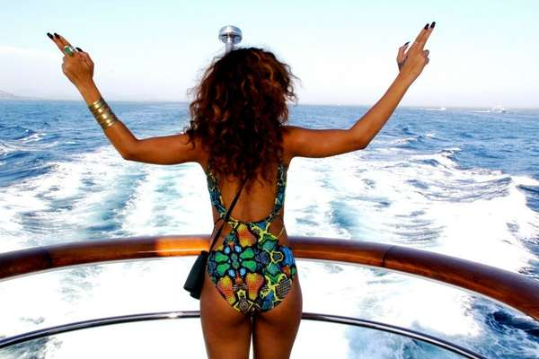 Rihanna vacation pictures