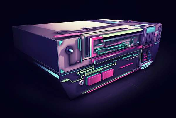 Futuristic Retro Game Renderings