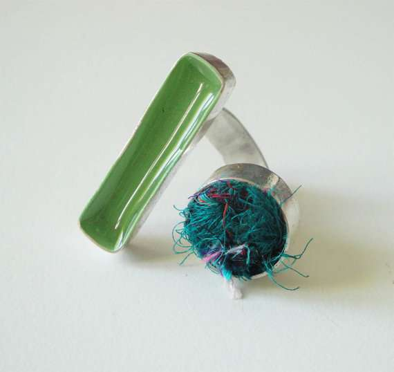 Ring With Silk Yarn