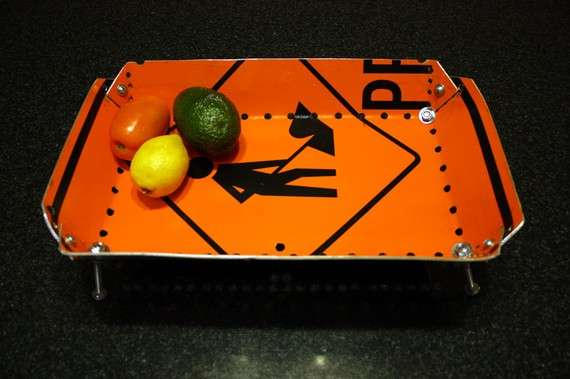 Road Sign Fruit Bowls