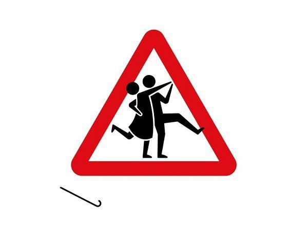 Recreated Elderly Road Signs