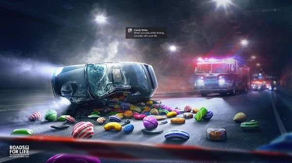 Gaming-and-Driving Caution Ads