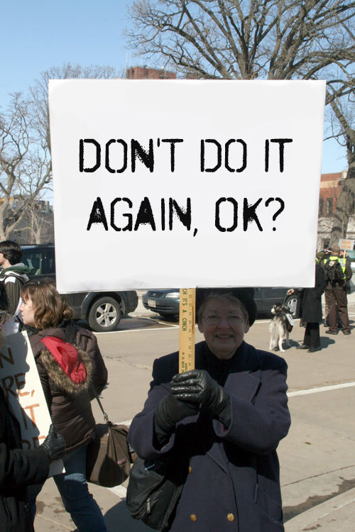 Polite Parody Protest Signs