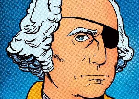 Presidential Pirate Pop Art