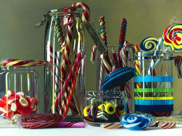 Hyperrealist Confectionary Paintings