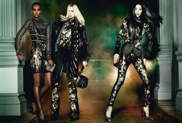 Edgily Glam Fashion Ads