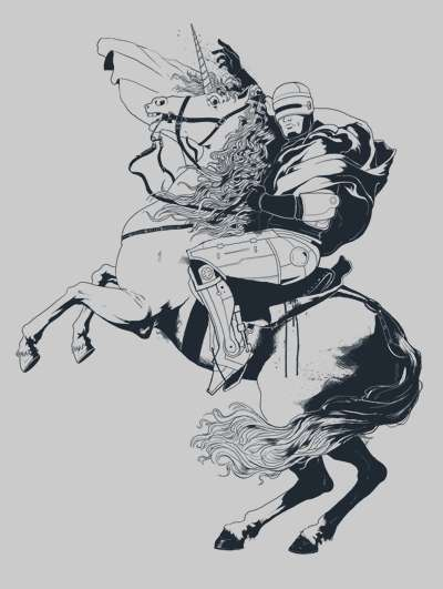 Galloping Cyborg Tees