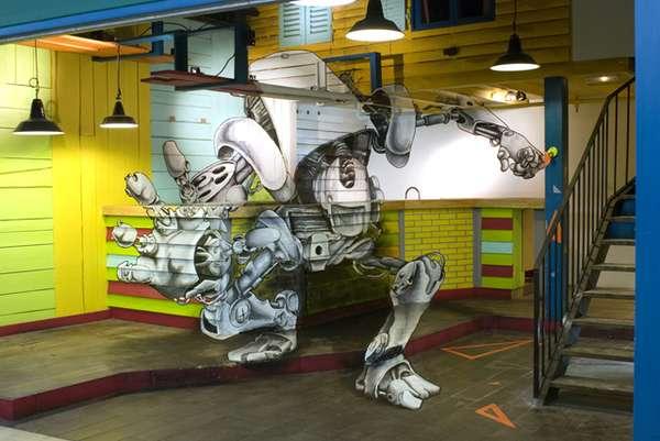 3D Tech Illusion Graffitti