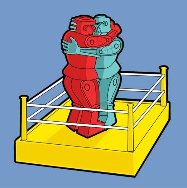 Kissing Robot Fashion