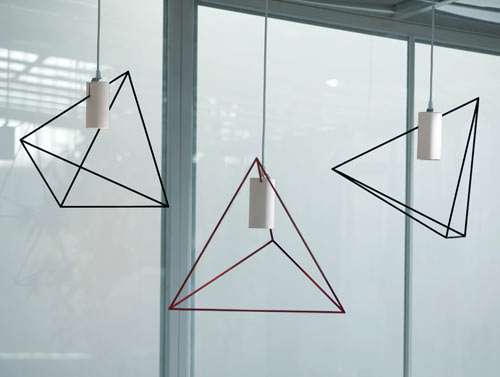 Geometric Wire Lighting