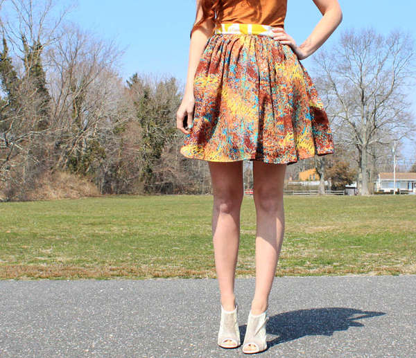 Homemade High-Waisted Skirts