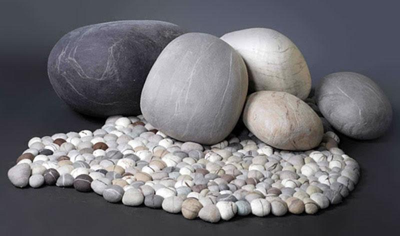 Rock-Shaped Pillows