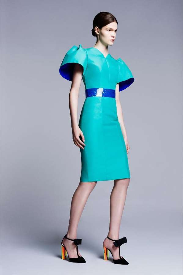 Structured Iridescent Fashion Roksanda Ilincic Resort 2014