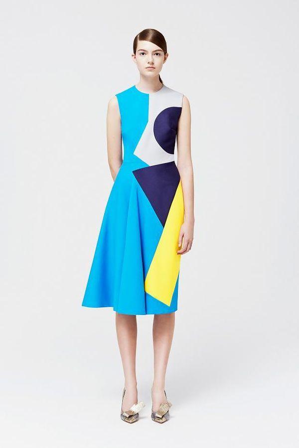 Geometric Colorblocked Fashion