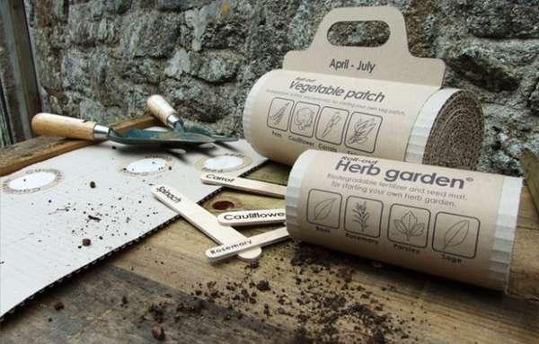 Cardboard Herb Gardens