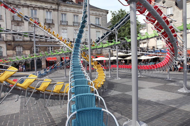 Roller Coaster Chair Sculptures