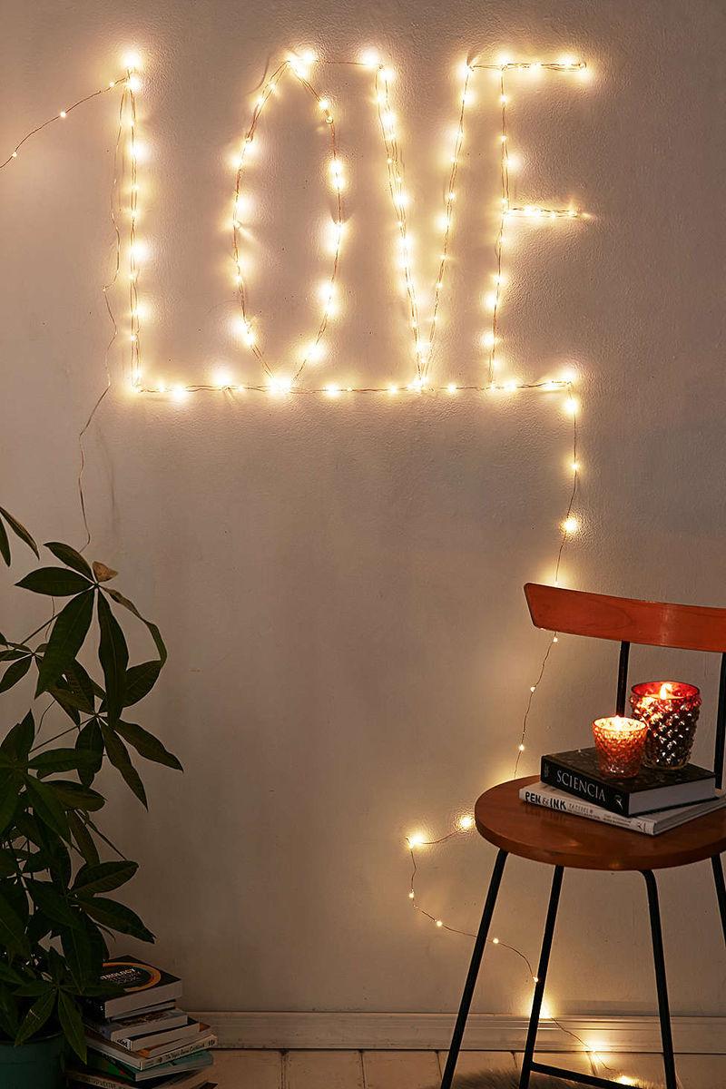 Romantic Typographic Lights