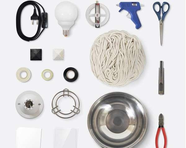 DIY Glistening Rope Lamps