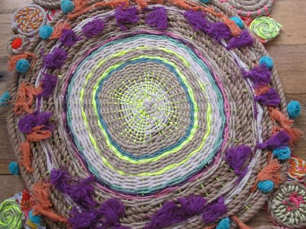 DIY Rope Swirl Tapestry