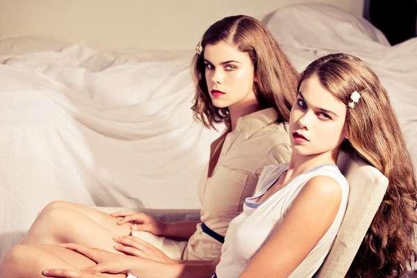 Mirrored Twin Fashion Shoots