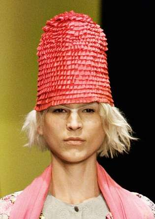 Ruffled Cone Hats