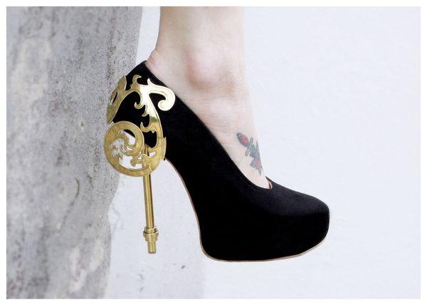 Elegant Victorian Stilettos