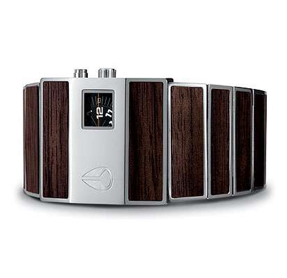Rotolog Watch: Ultra Hip with Wood Inlay