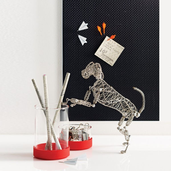 Steel Canine Desk Toys Rover The Doodles Dog