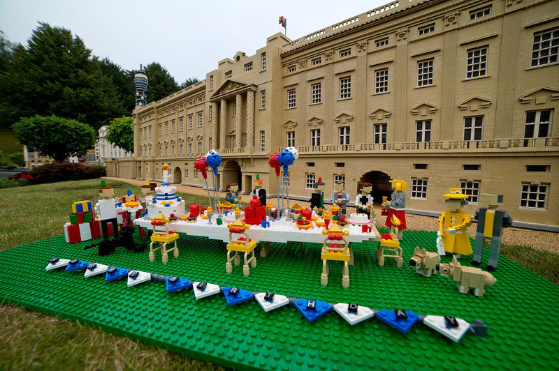 Royal Birthday LEGO Sculptures