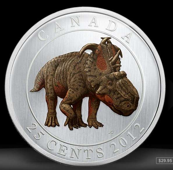 royal canadian mint 2012 dinosaur quarters