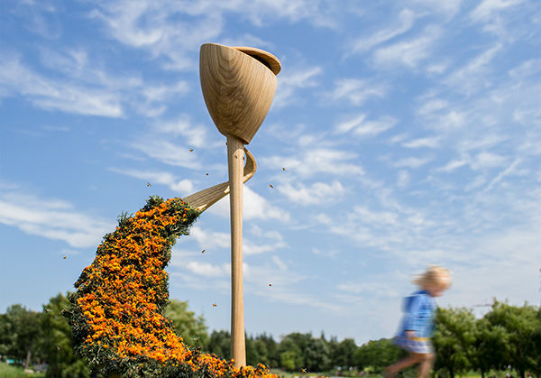 Spiralling Beekeeping Sculptures