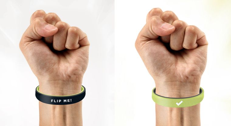 Resolution-Reminding Wristbands