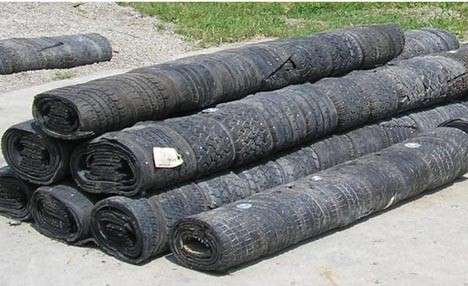 Recycled Rubber Pillars