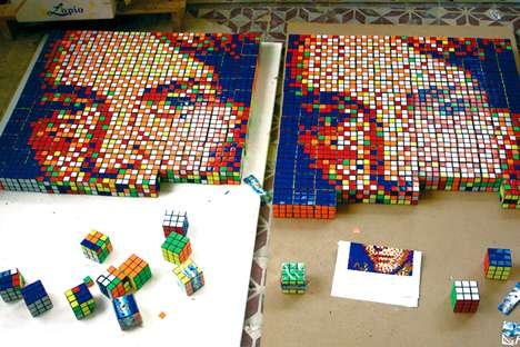 Rubik's Cube Meets Pixel Art