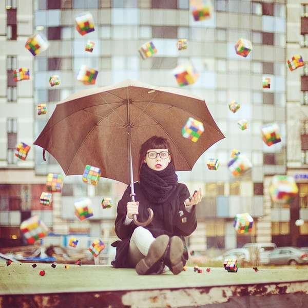 Rubiks Cube Rain Photos