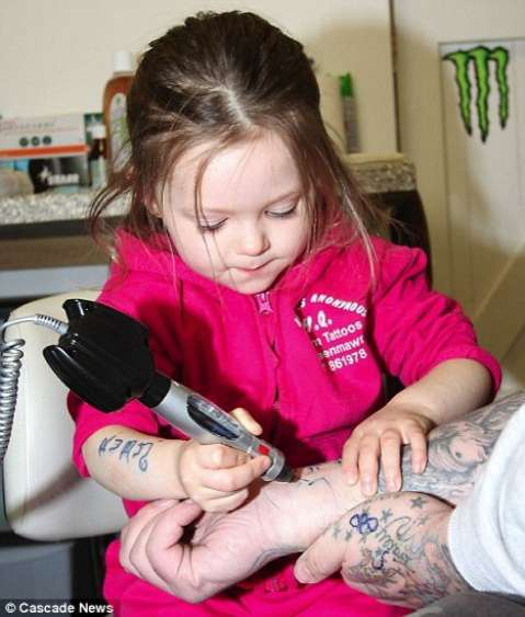 toddler tattoo artist