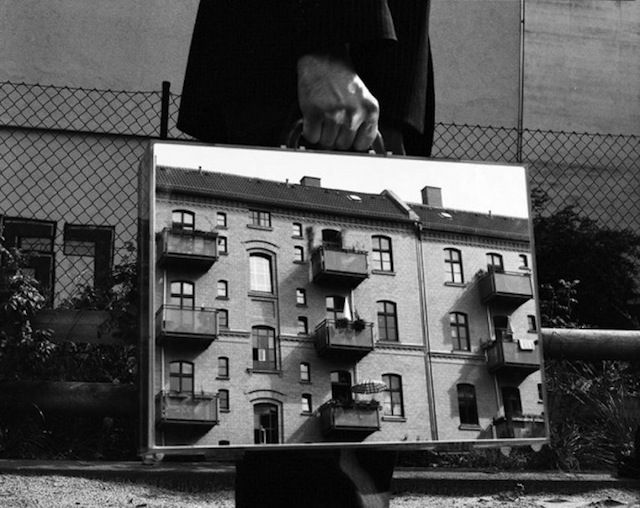 Reflective Briefcase Photography