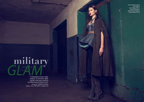 Chic Soldierlike Photoshoots