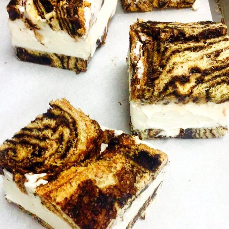 Marbled Ice Cream Sandwiches