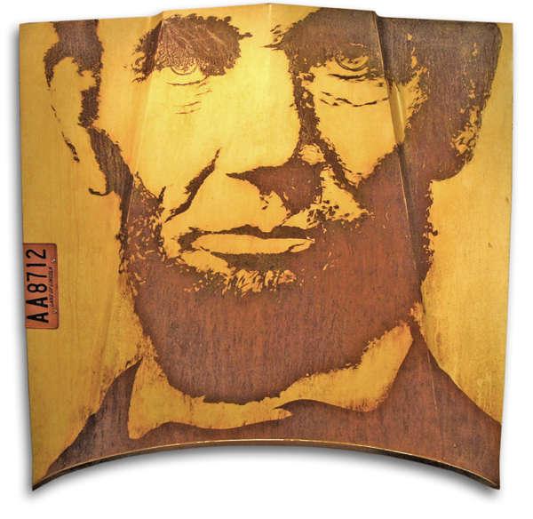 Presidential Portrait Rust Art