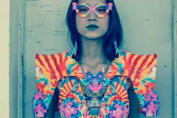 Psychedelic Beaded Couture